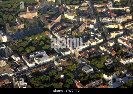 view of Herne City with townhall, police post, administration, post office and pedestrian zone, Germany, North Rhine - Stock Photo
