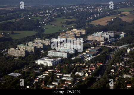 Ruhr University Bochum, view from North East, Germany, North Rhine-Westphalia, Ruhr Area, Bochum - Stock Photo