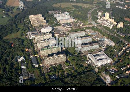 Ruhr University Bochum, view from East, with Botanical garden (left), Germany, North Rhine-Westphalia, Ruhr Area, - Stock Photo