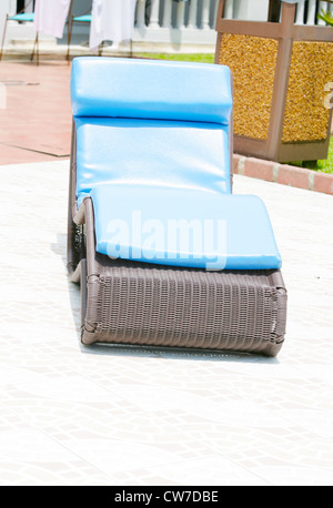 Lounge relaxing chair in the terrace - Stock Photo