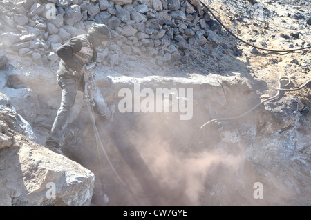 mining of lead sulfide , Morocco - Stock Photo