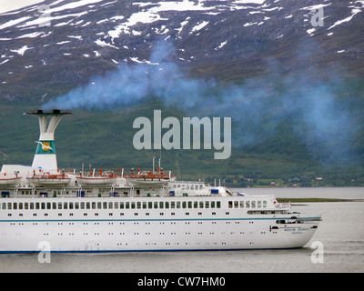 emissions from a cruiser, Norway, Troms, Troms� - Stock Photo