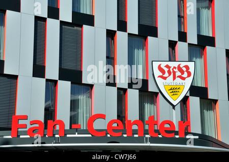 VfB Stuttgart fan shop, Carl Benz Center, Germany, Baden-Wuerttemberg, Stuttgart - Stock Photo