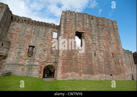 Crichton Castle, Ruins, in rural countryside at Pathead. Gorebridge. South East of Edinburgh. Scotland.  SCO 8317 - Stock Photo