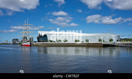 The Clyde Maritime Trust owned Tall Ship Glenlee moored at the newly built Riverside Museum on the River Clyde in - Stock Photo