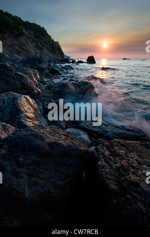 Sunrise over the Black Sea, Crimea, Ukraine - Stock Photo