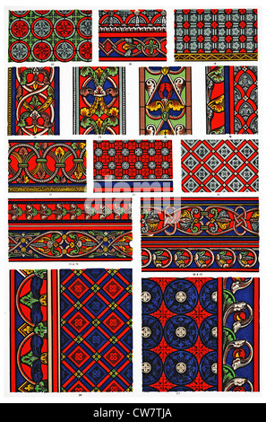 MEDIEVAL ORNAMENTS - Stock Photo