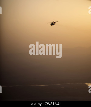 Marines with Marine Heavy Helicopter Squadron 466, 3rd Marine Aircraft Wing (Forward), fly over the Helmand River, - Stock Photo