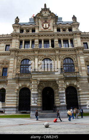 Bilbao city in Spain, the capital of the province of Biscay of the Basque Country - Stock Photo