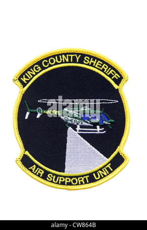Police patch of the King County Sheriff department Air Support helicopter Unit - Stock Photo
