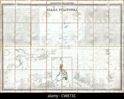 1852 Coello - Morata Case Map of the Philippines No. 3 - Stock Photo