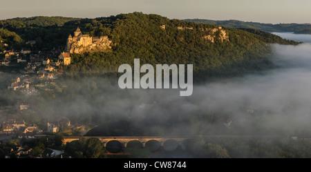 The Château de Castelnaud, Castelnaud la Chapelle, Dordogne, Aquitaine, France - Stock Photo