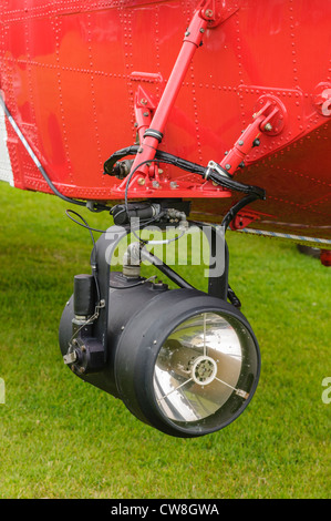 Searchglight on the Irish coastguard Sigorsky S-61N - Stock Photo