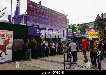 Edinburgh Fringe box office for purchasing tickets - Stock Photo