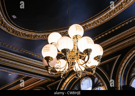 Light fitting inside the Voodoo Rooms, Edinburgh. - Stock Photo