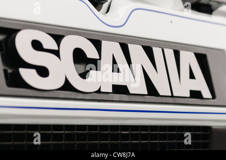 Scania logo on the front of a lorry/truck - Stock Photo