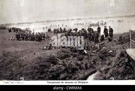 First World War, post card of the era - Stock Photo