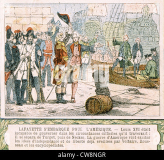 La Fayette, illustrations from the late 19th century - Stock Photo