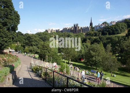 princes street gardens edinburgh scotland uk united kingdom - Stock Photo