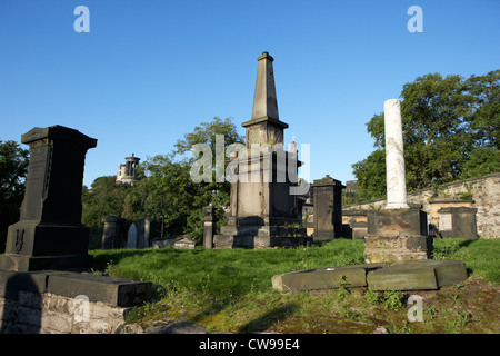 old calton cemetery burial ground edinburgh scotland uk united kingdom - Stock Photo