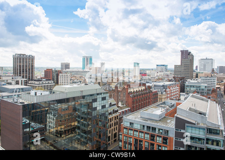 Aerial photo of the Birmingham city centre skyline. West Midlands, England. - Stock Photo