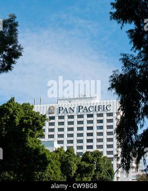 Perth Western Australia - The Pan Pacific Hotel in Perth, Western Australia - Stock Photo