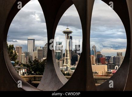 Seattle skyline and Space Needle. - Stock Photo