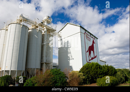 Fremantle Western Australia - The Dingo Flour sign on the side of the Great Southern Roller Flour Mills in Fremantle, - Stock Photo