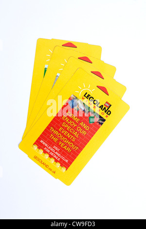 Entrance tickets for Legoland at Windsor in England, UK - Stock Photo