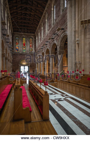 St Annes Cathedral interior, Cathedral Quarter, Belfast, Northern Ireland. - Stock Photo