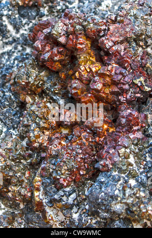 Mineral crystals and stones in various structures - Stock Photo