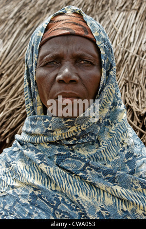 Woman of Gambaga, Ghana - Stock Photo