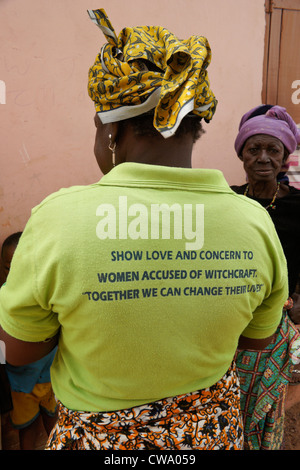 Woman of Gambaga, Ghana, accused of witchcraft - Stock Photo