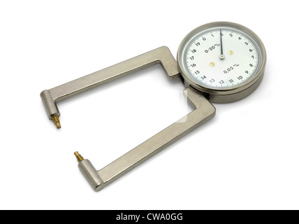 Laboratory micrometer isolated on white - Stock Photo