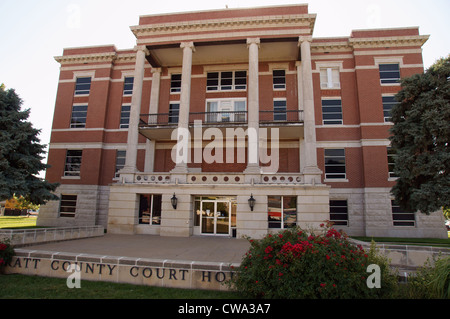 pratt county courthouse kansas ks seat building for legal proceeding city hall courtroom federal of justice - Stock Photo