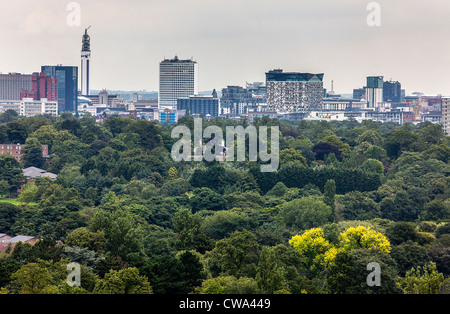 A view of the Birmingham city centre skyline, West Midlands, UK. - Stock Photo
