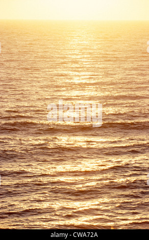 Sunset over the ocean at Cape Trafalgar - Stock Photo