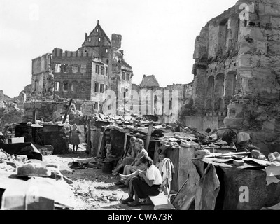 Postwar Nuremberg, life amongst the ruins, 9/19/45. Courtesy: CSU Archives / Everett Collection - Stock Photo