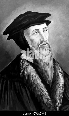 John Calvin (1509-1564). Courtesy: CSU Archives/Everett Collection - Stock Photo