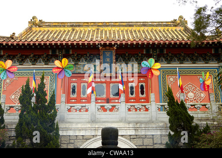 Po lin monastery exterior, lantau island, china - Stock Photo
