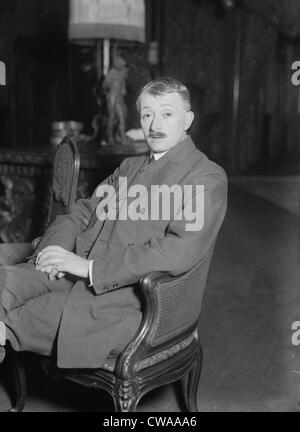John Masefield (1878-1967), English poet, and novelist who was Poet Laureate from 1930 to 1967, in photo ca. 1920. - Stock Photo