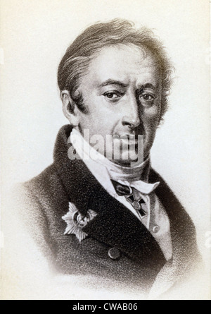 Nikolai Mikhailovich Karamzin (1766-1826) Russian historian and poet influenced by European Romanticism. His state - Stock Photo