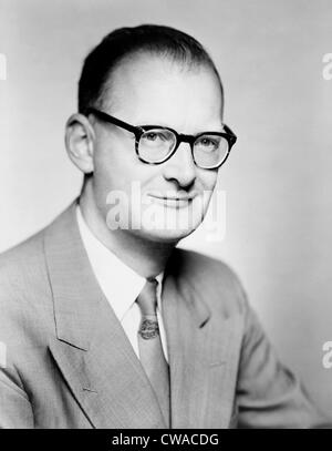 Arthur C. Clarke (born 1917), English writer of both science and science fiction, best known for his short story - Stock Photo