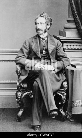 Lord Lytton (1831-1891) (Robert Bulwer Lytton) poet and diplomat. As Viceroy of India his actions caused the Second - Stock Photo