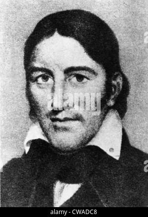 DAVID 'DAVY' CROCKETT, (1786-1836). Courtesy: CSU Archives / Everett Collection - Stock Photo