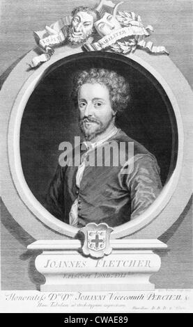 John Fletcher (1579-1625), English dramatist, of great fame during his lifetime. He died in the London plague of - Stock Photo
