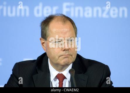 Finance Minister Peer Steinbrueck (SPD) - Stock Photo