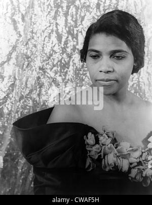 Marian Anderson (1897-1993), African American opera singer in 1940 portrait by Carl Van Vechten. - Stock Photo