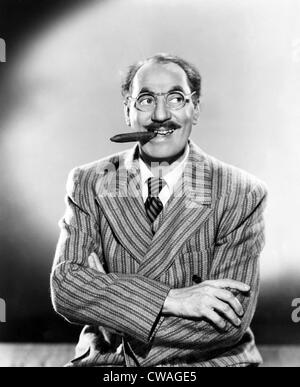 American comedian Groucho Marx, (1890-1977), c. 1949.. Courtesy: CSU Archives / Everett Collection - Stock Photo