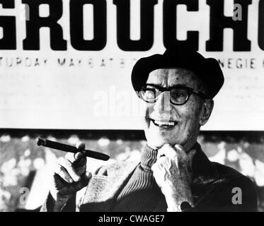 American comedian Groucho Marx, (1890-1977), c. 1975.. Courtesy: CSU Archives / Everett Collection - Stock Photo